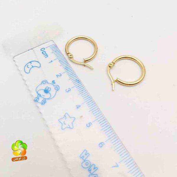 گوشواره حلقه ای طلایی استیل