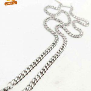 گردنبند مردانه استیل نقره ای