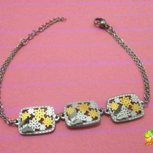 دستبند نقره ای