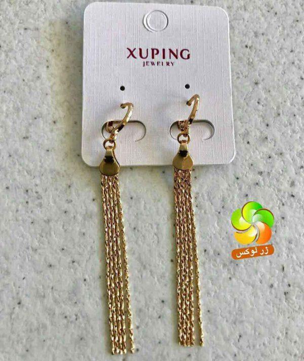 گوشواره شوپینگ طلایی آویز دار