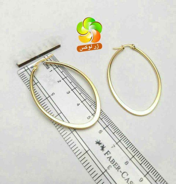گوشواره بزرگ حلقه ای استیل طلایی