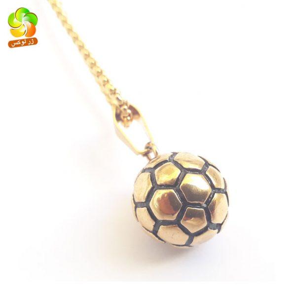 گردنبند ورزشی استیل طلایی توپ والیبال