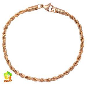 دستبند استیل زنانه طلایی