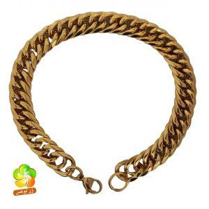 دستبند مردانه مدل کارتیر طلایی