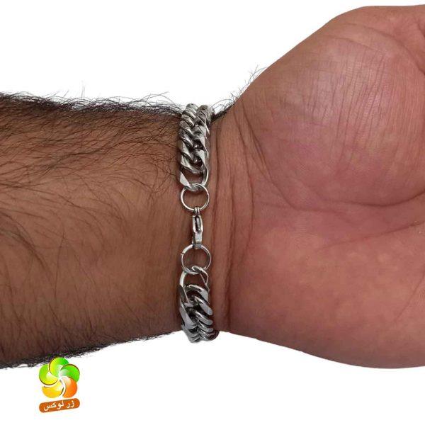 دستبند نقره ای کارتیر مردانه